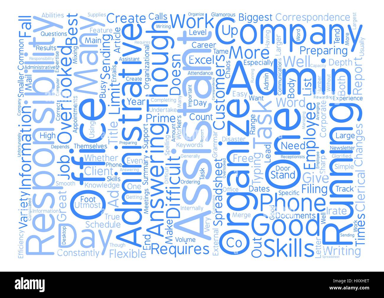 Administrative Assistant The Responsibilities Of An Administrative Assistant Text