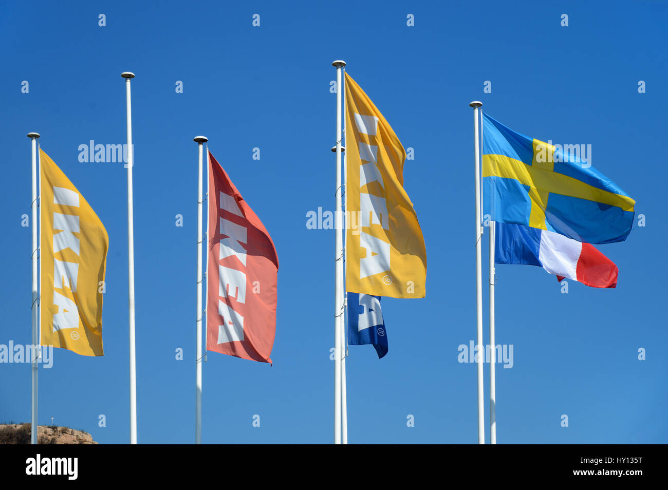 Ikea French Days Ikea Flags Stock Photos Ikea Flags Stock Images Alamy