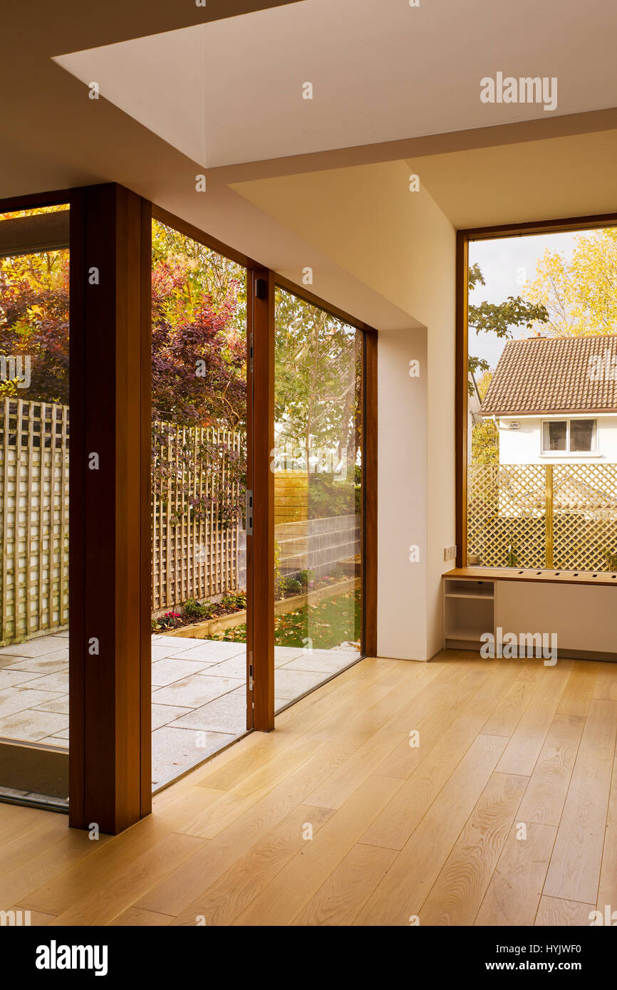 Timber Glass Doors Interior View Of Living Area Showing Glass Doors And Timber Floor