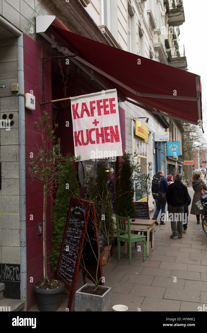 Kuchen Hamburg Flag Advertising Kaffee Und Kuchen Coffee And Cake In Hamburg