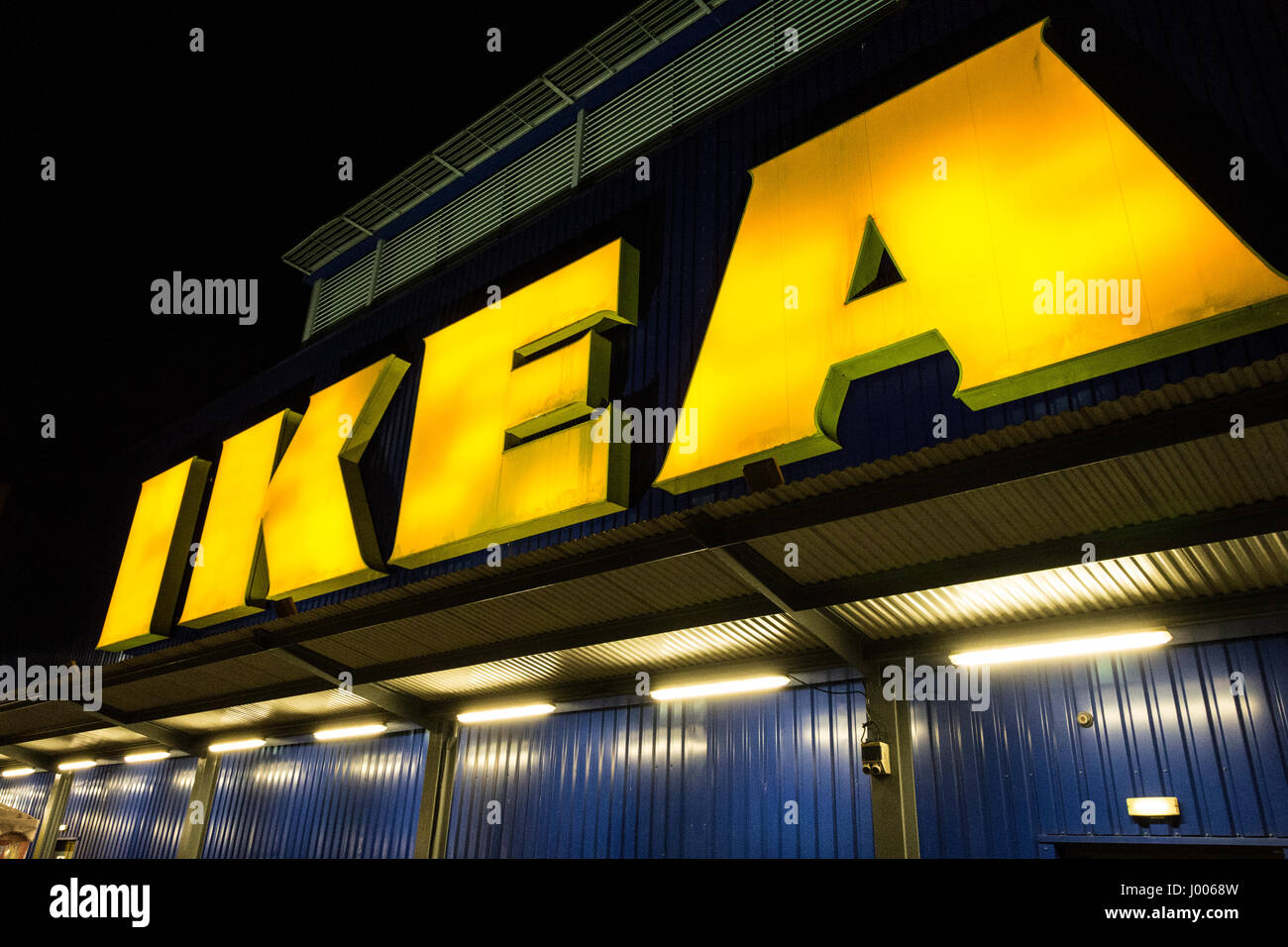 Neon Ikea Large Yellow Neon Ikea Store Sign Outside Wembley Superstore