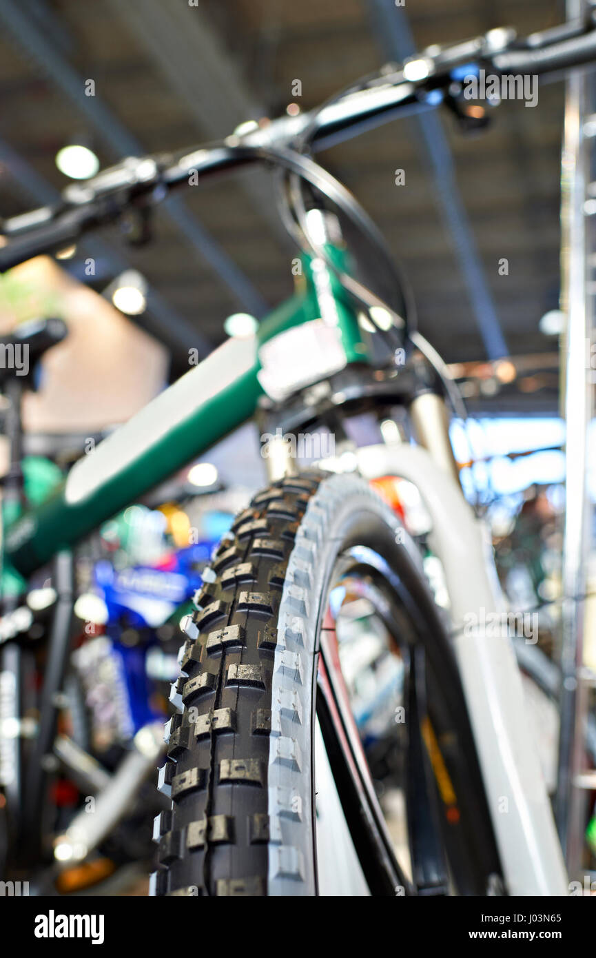 Mount Bike Shop Sport Mountain Bike In A Bicycle Shop Front View Stock Photo