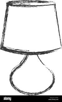 lamp furniture decorative object sketch Stock Vector Art ...