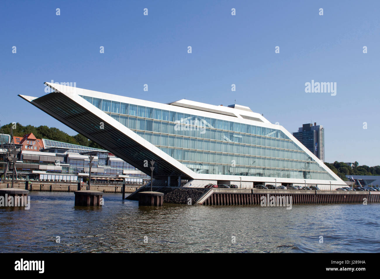 Hamburg Architektur Germany, Hamburg, Elbe River, Dockland Office Building (brt Stock Photo - Alamy