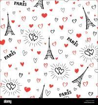 Travel France seamless pattern. Paris city vacation ...