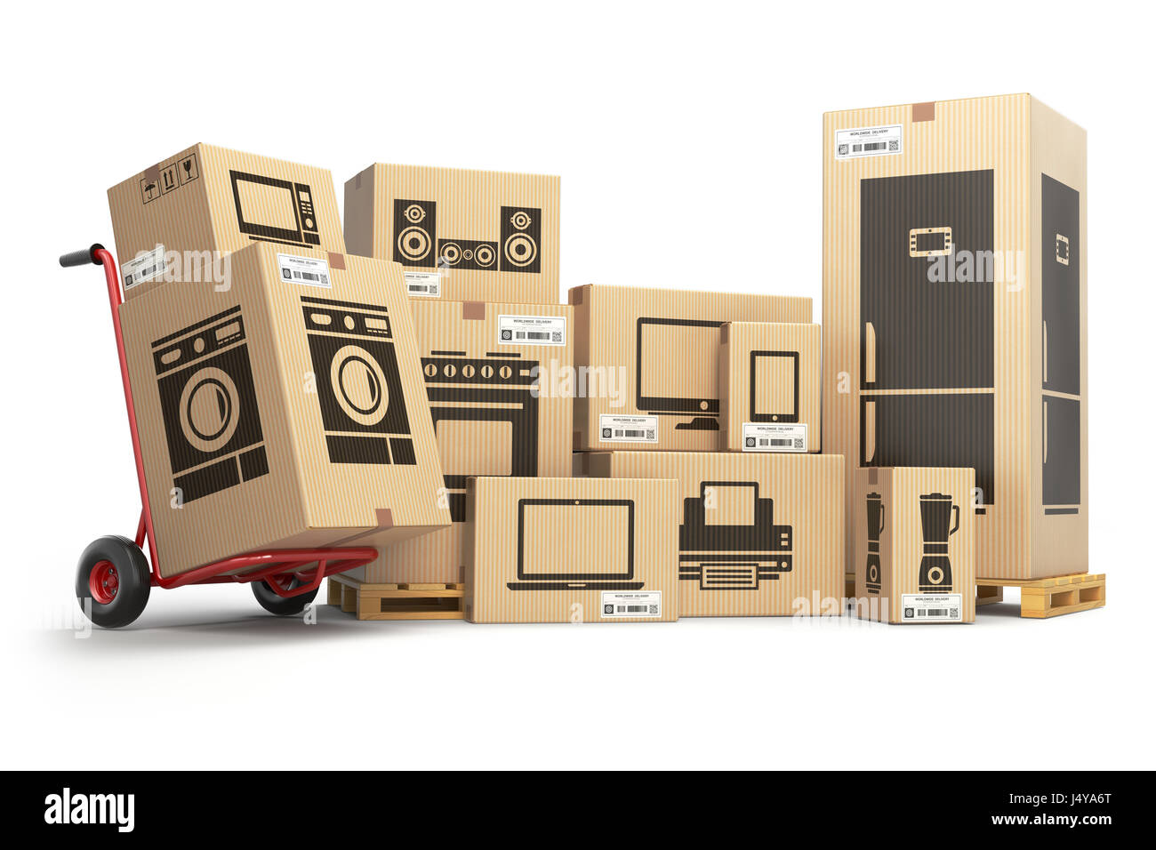 In Home Electronics Household Kitchen Appliances And Home Electronics In Carboard