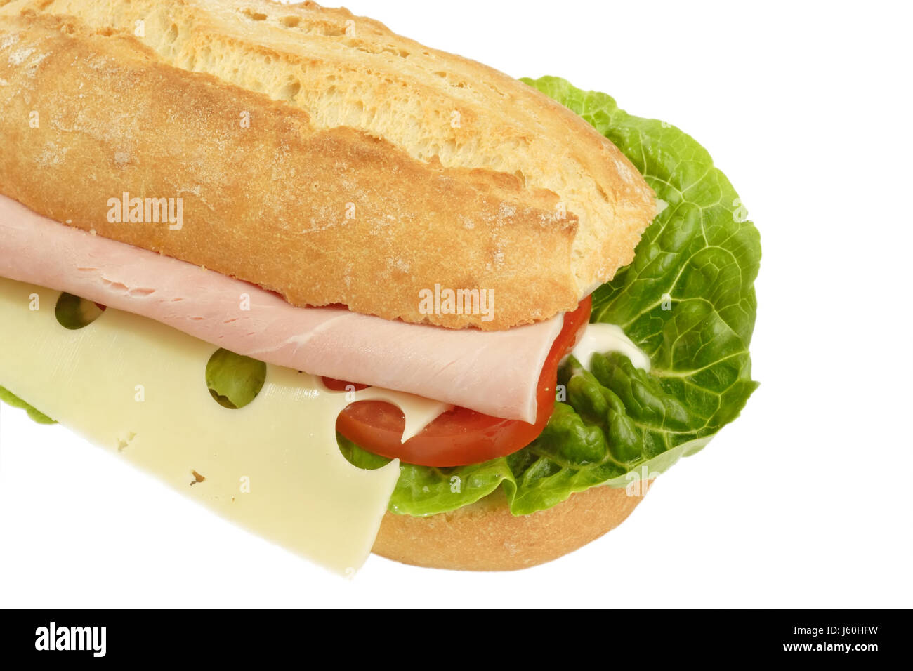 Baguette De Décoration Ham Baguette Food Aliment Decoration Sandwich Ham Baguette Tomato