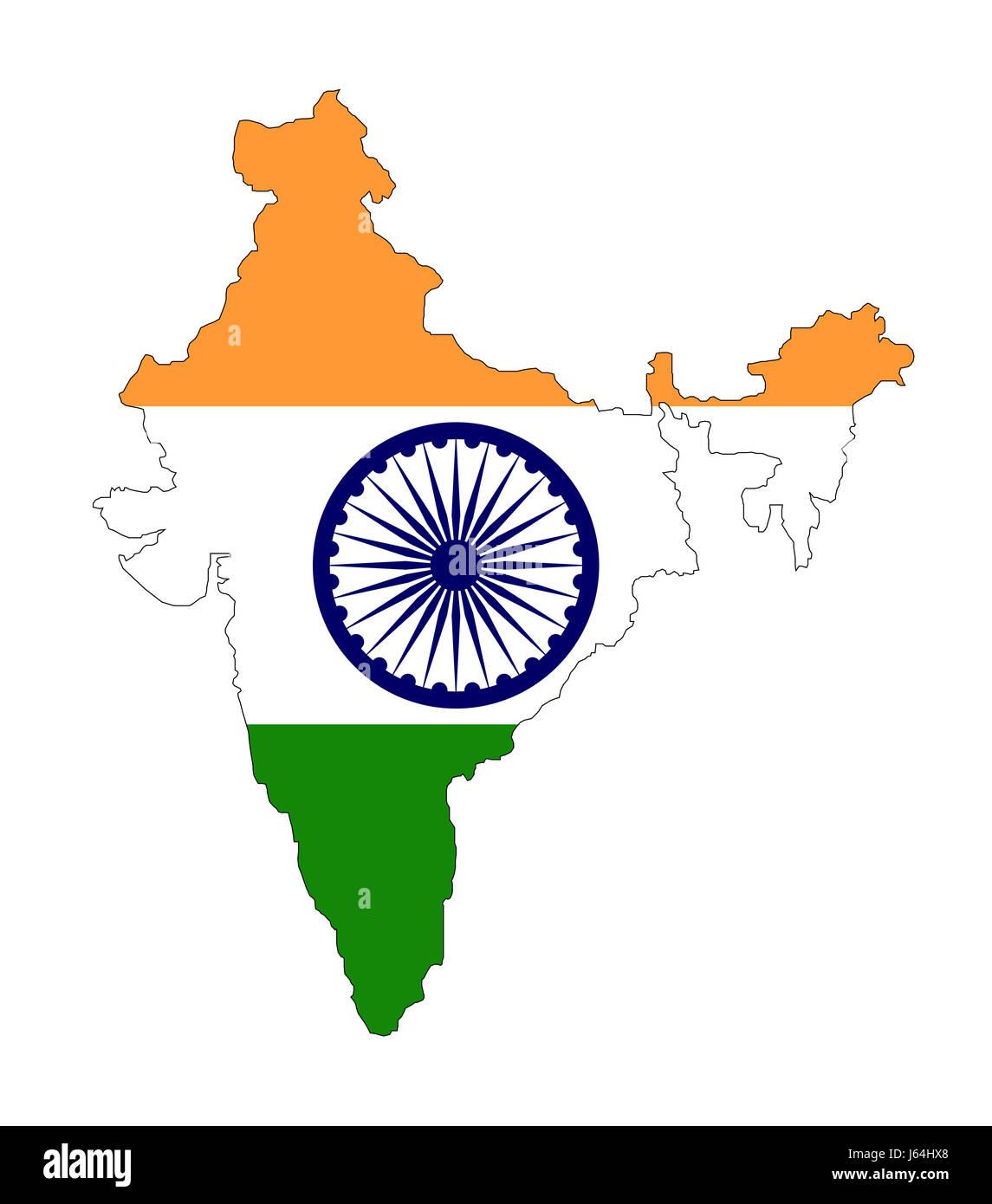 Drapeau India India Flag Cut Out Stock Images Pictures Alamy