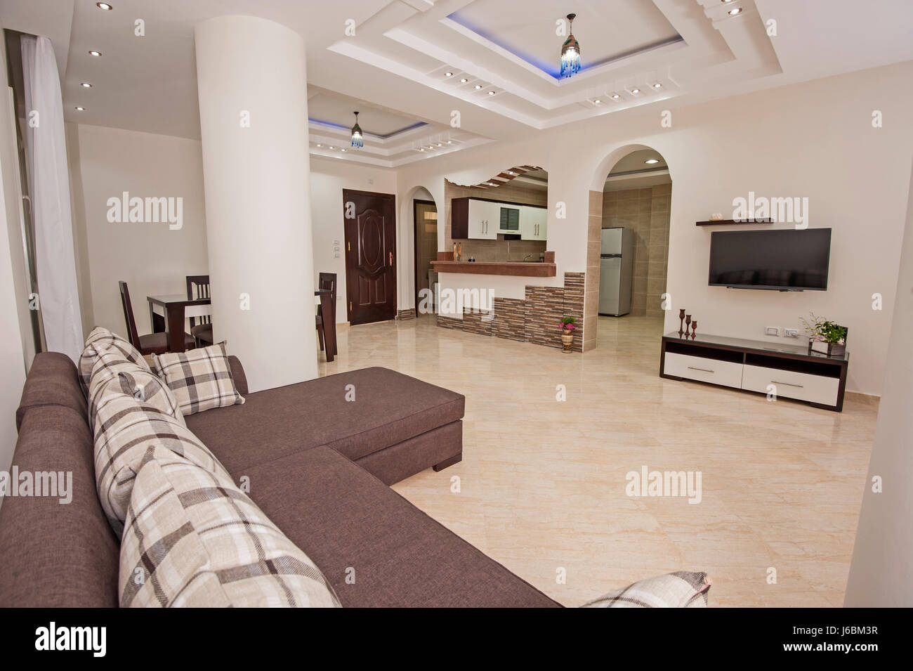 Apartment Einrichtung Living Room Lounge In Luxury Apartment Show Home Showing Interior