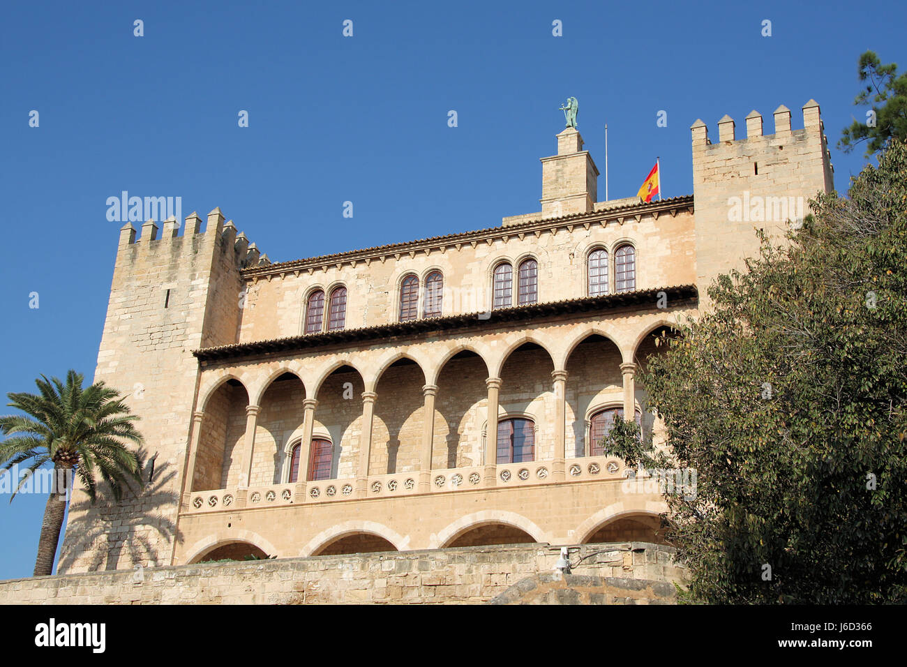 Sprossenfenster Wiki Palau De Almudaina Stock Photo 141658782 Alamy