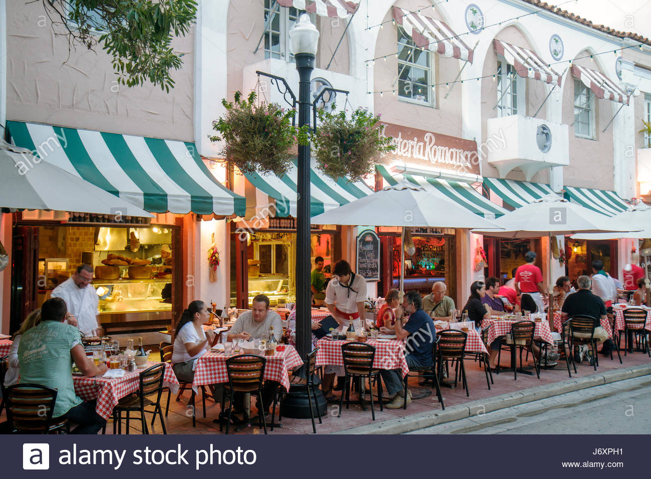 Piccola Cucina Miami Beach Restaurants On Espanola Way South Stock Photos Restaurants On