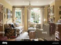 Traditional english style living room with Howard style ...