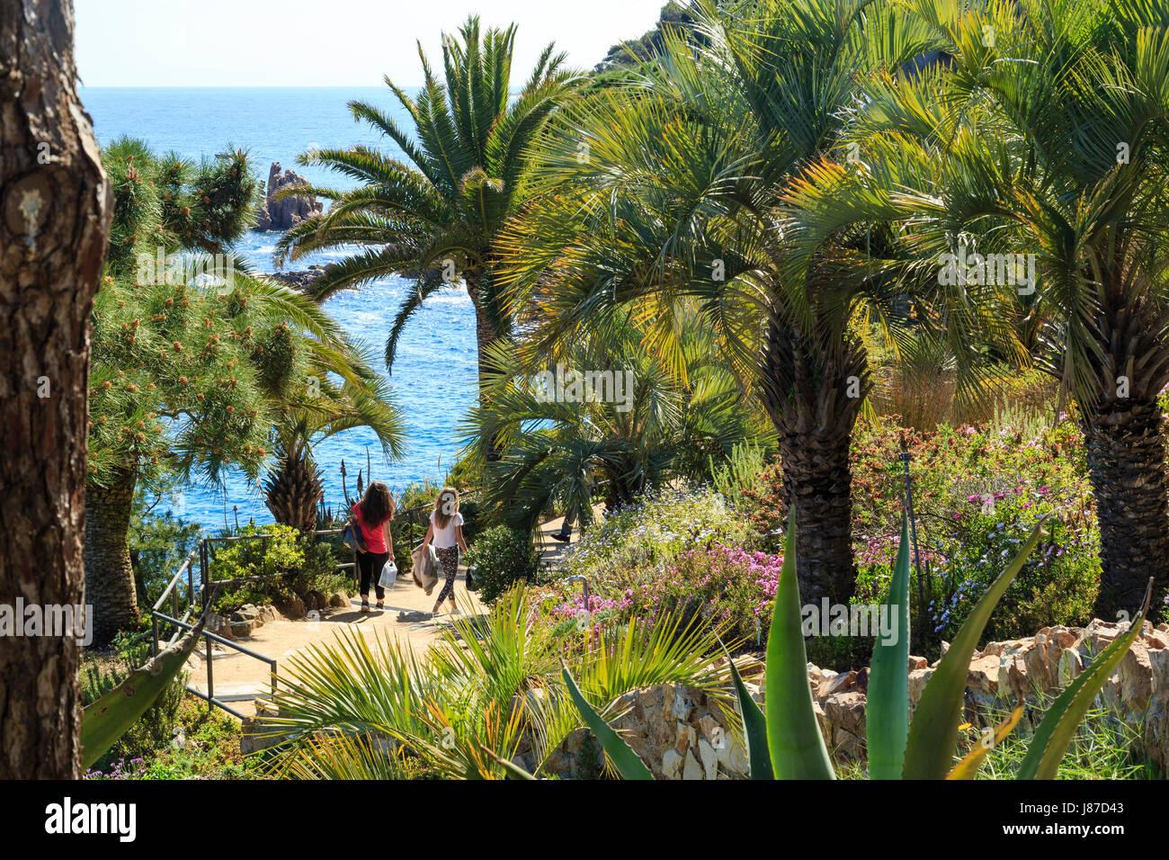 Espagne catalogne costa brava blanes jardin botanique marimurtra spain catalonia costa brava blanes marimurtra botanical garden