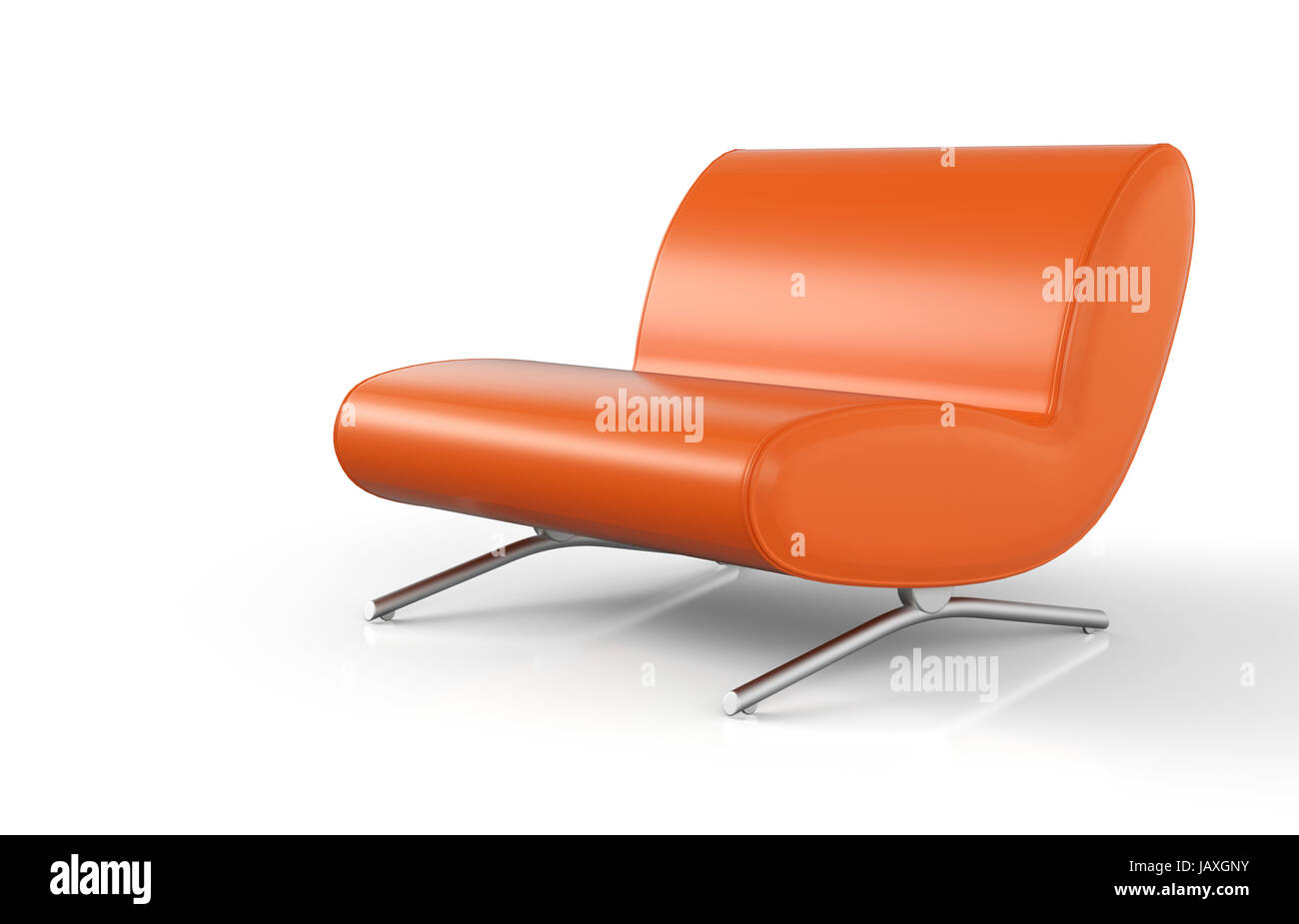 Desinger Sessel Ergonomischer Designer Sessel Orange Stock Photo 144413415 Alamy