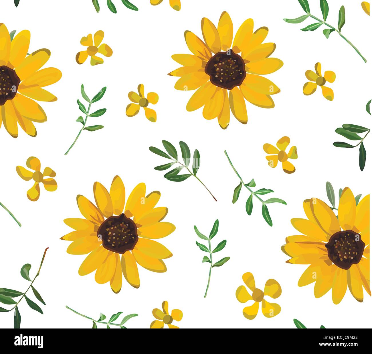 Cute Rustic Fall Wallpapers Vintage Yellow Sunflower Tiny Beautiful Soft Flowers Green