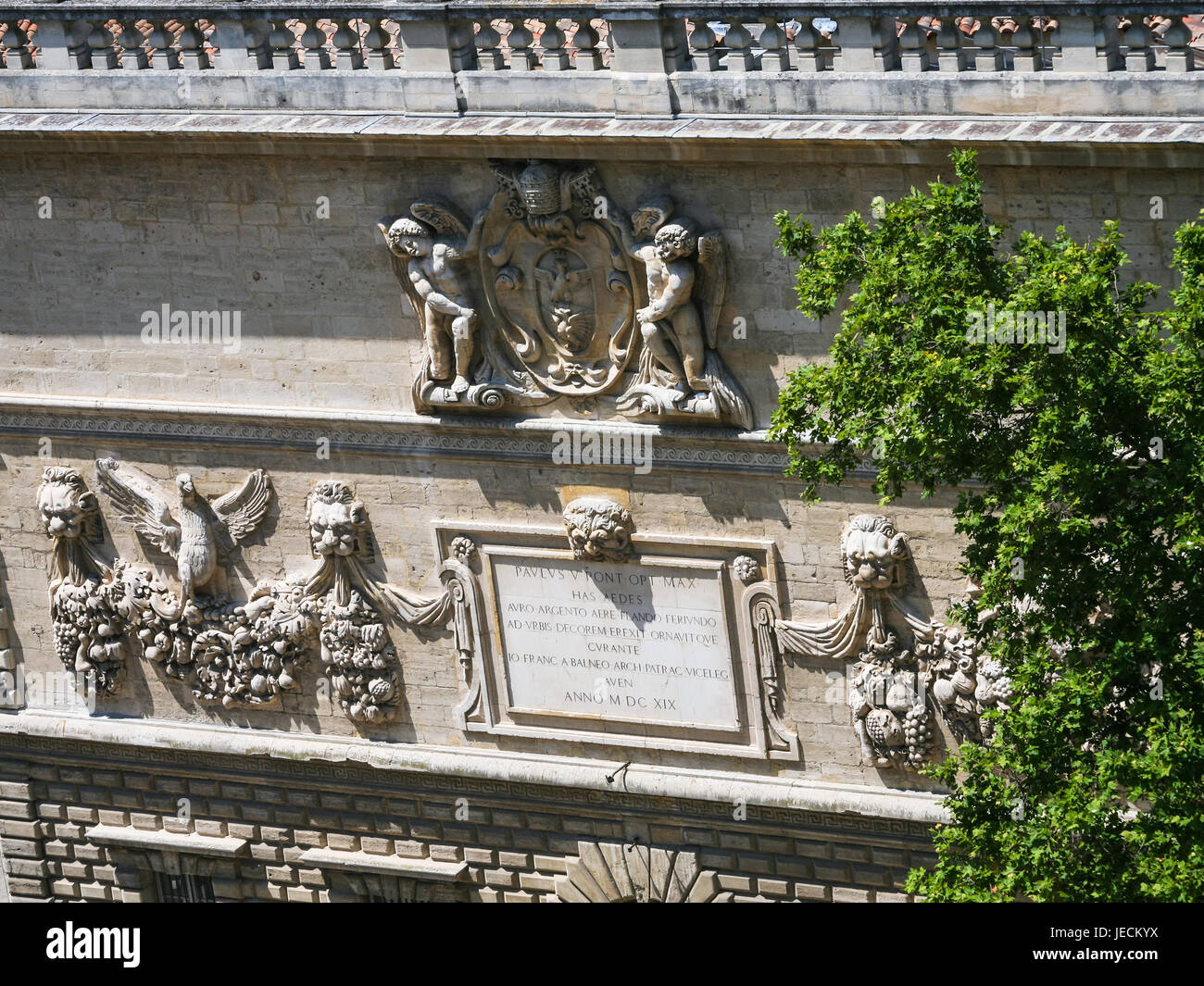 Provence Decoration Travel To Provence France Outdoor Decoration Of Medieval Papal