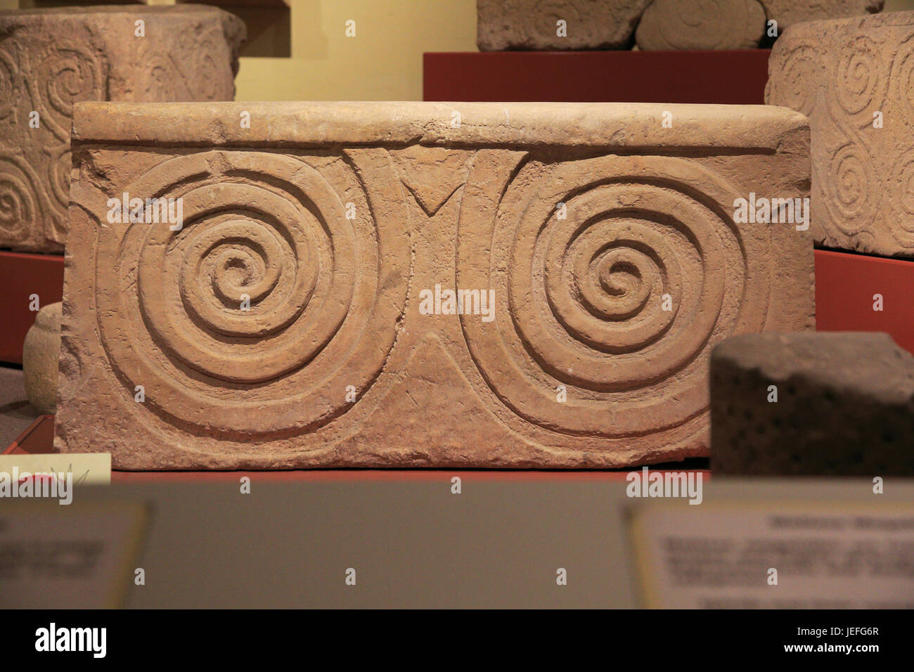 Neolithic Architectural Style Carved Stone Neolithic Spiral Design National Museum Of