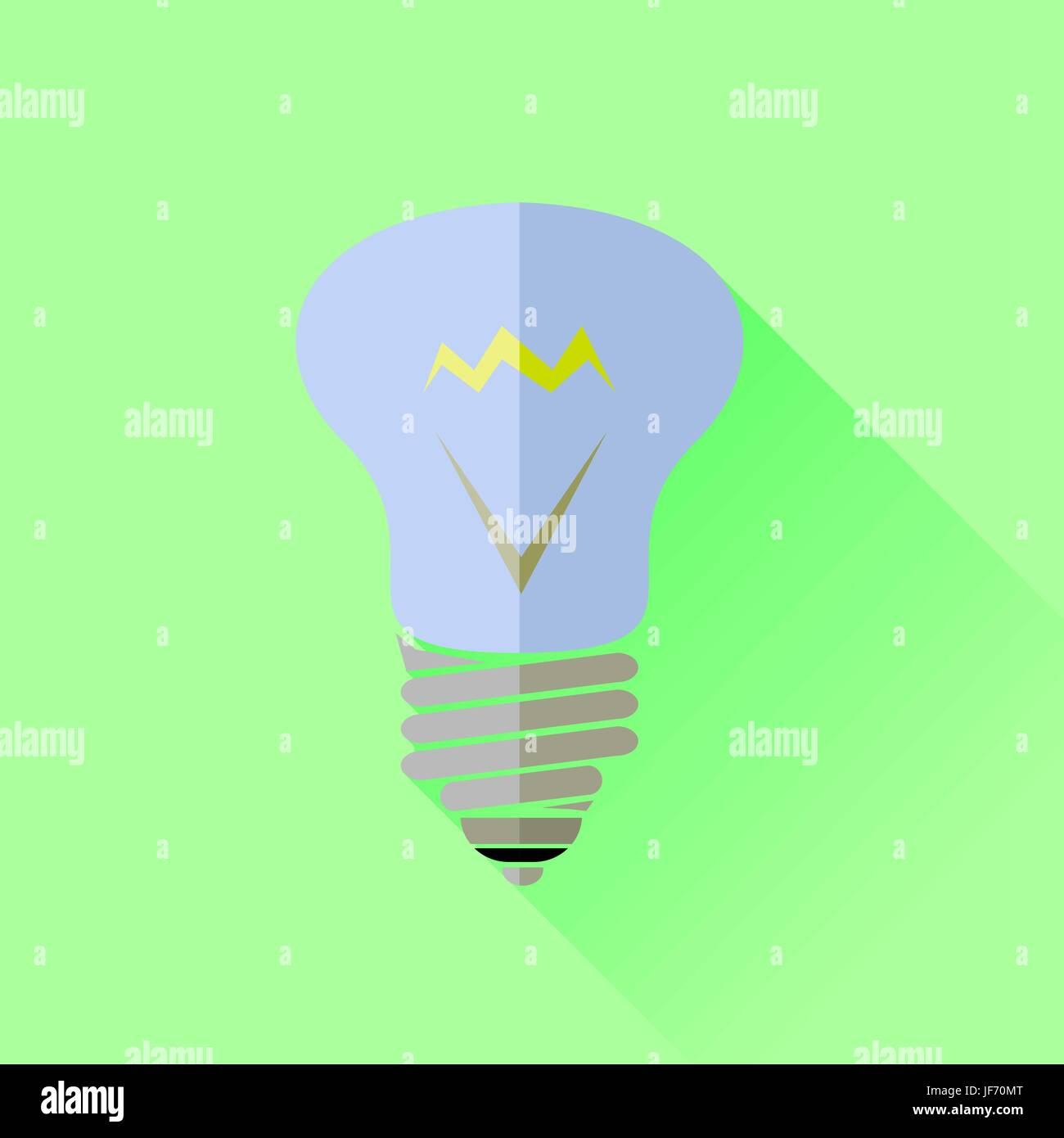 Glass Lamp Vector Glass Lamp Icon Isolated On Green Background Stock Vector