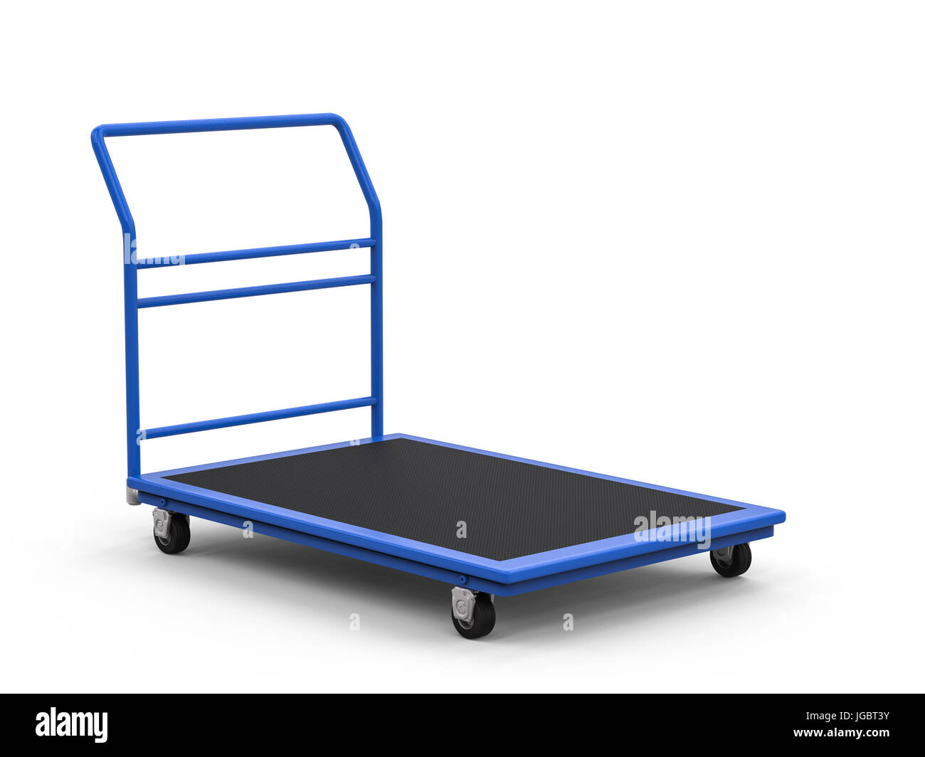 A Frame Trolley 3d Rendering Warehouse Trolley Or Platform Trolley On White Stock