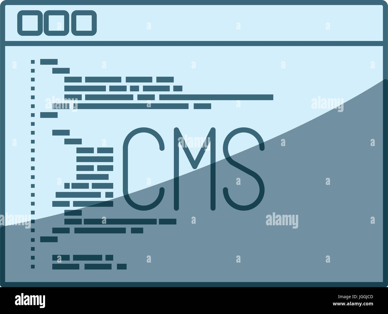 Cms Script Blue Shading Silhouette Of Programming Window With Script Code Cms