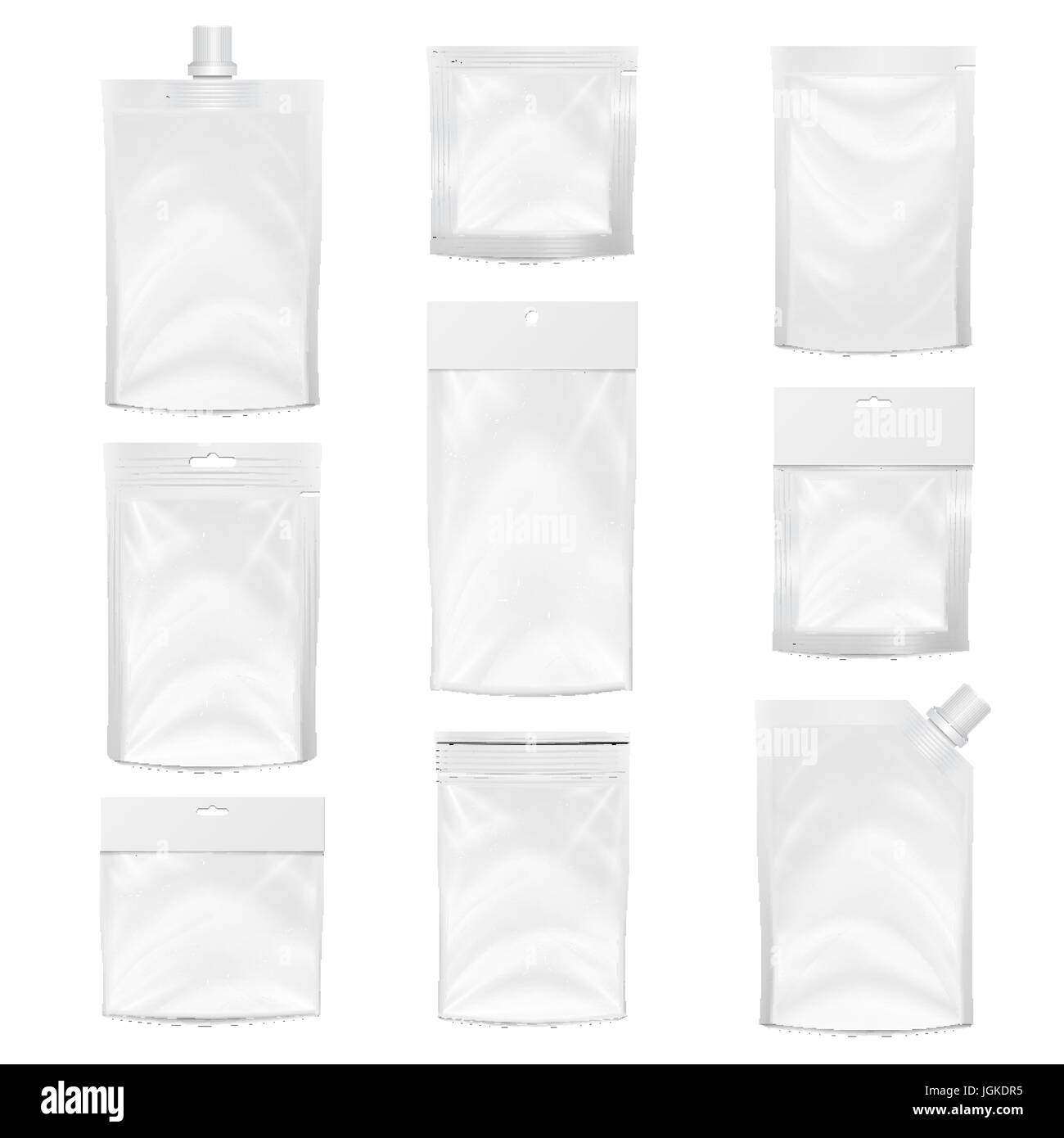 Ziploc Beutel Plastic Pocket Vector Blank Packing Design Realistic