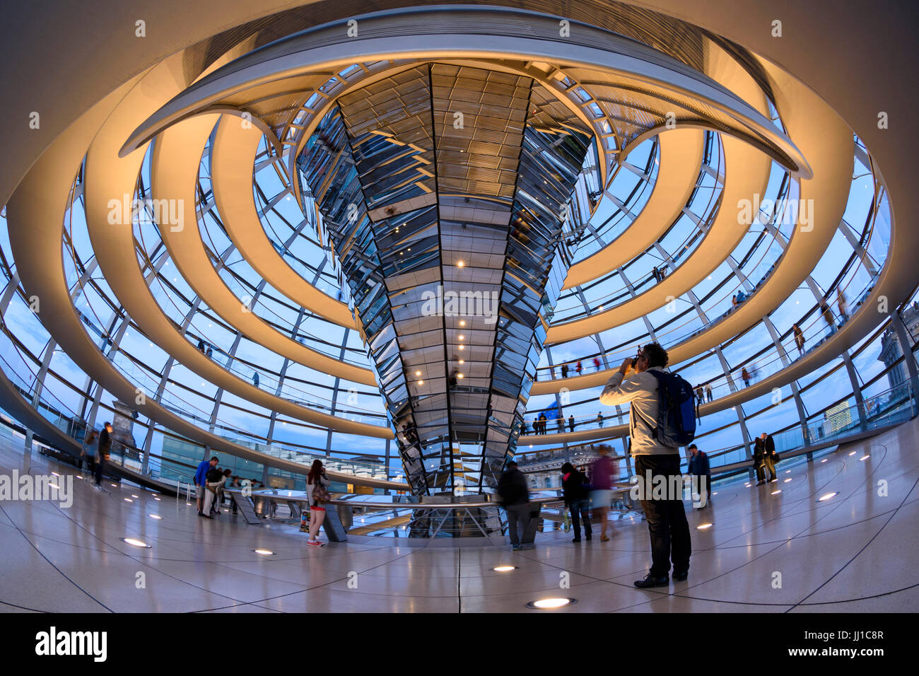 Interior Berlin Berlin Germany Interior Of The Reichstag Dome And Spiral