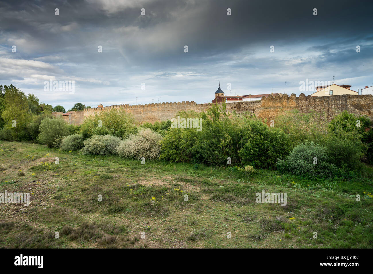 Camino De B City Wall Sahagun Spain Camino De Santiago Stock Photo