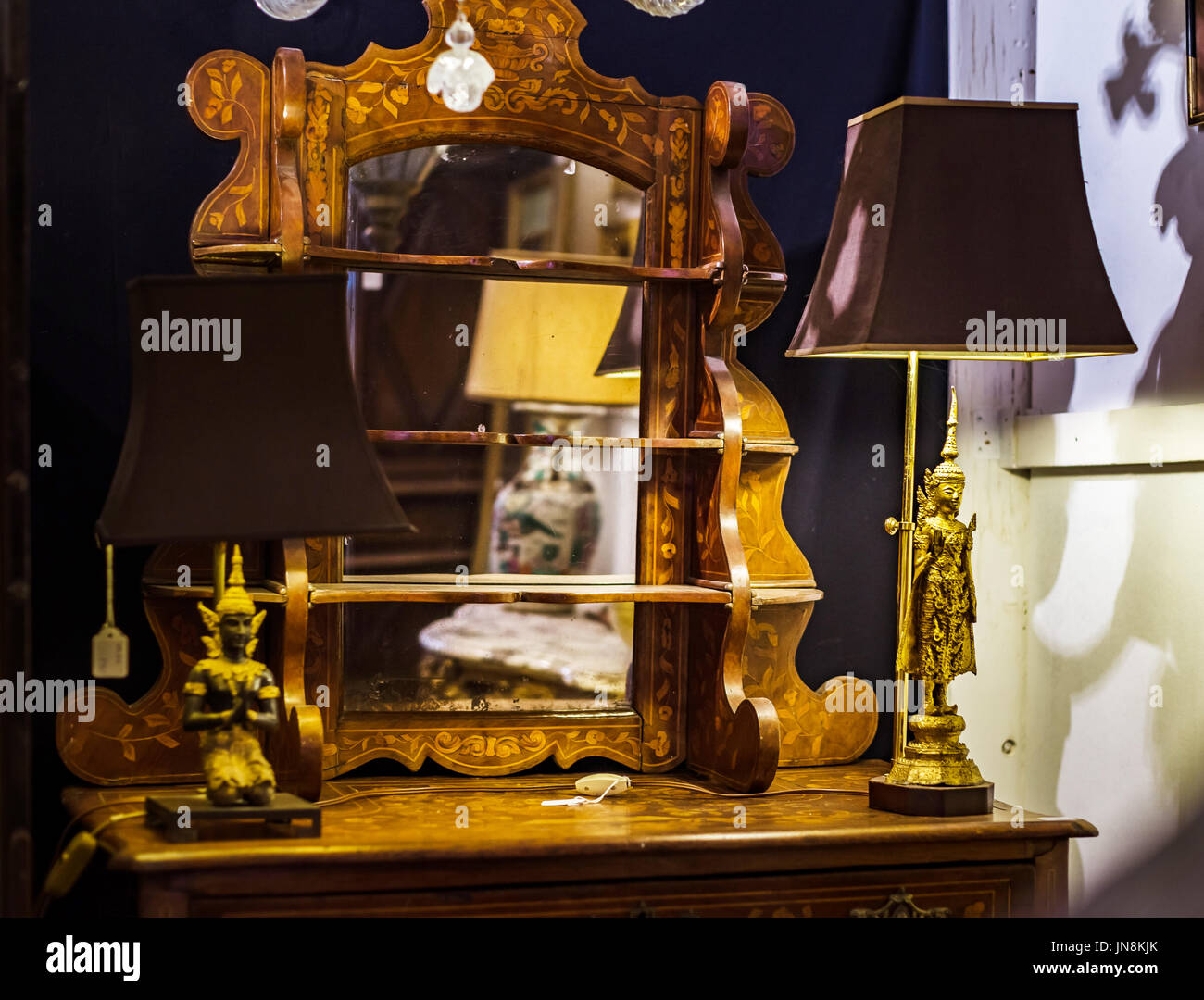 Old Vintage Furniture In Antique Shop Bruxelles Belgium Stock Photo Alamy