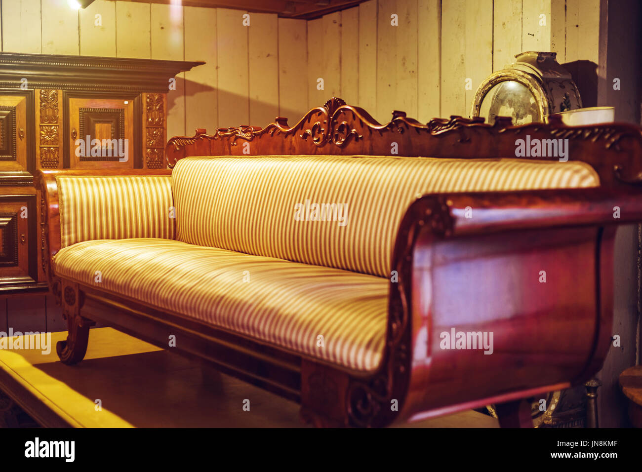 Old vintage furniture in antique shop, Bruxelles, Belgium Stock Photo - Alamy