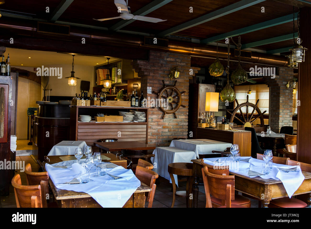 Decoration Restaurant Italien The Marine Restaurant Stock Photos And The Marine Restaurant