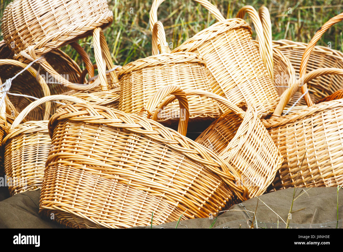 Cane Baskets Handicraft Cane Baskets Stock Photos And Handicraft Cane