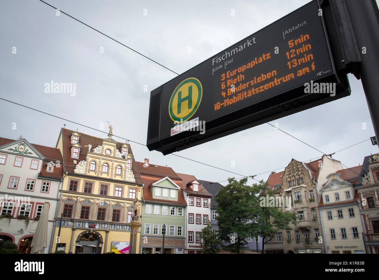 Bus Erfurt Bus Stop Waiting Times Stock Photos Bus Stop Waiting Times Stock