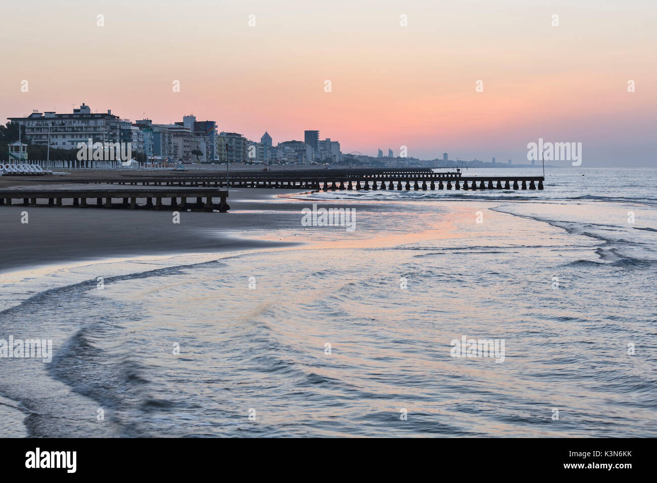 Jesolo Venezia Europe Italy Veneto Venezia A View Of Jesolo Beach Few Minutes