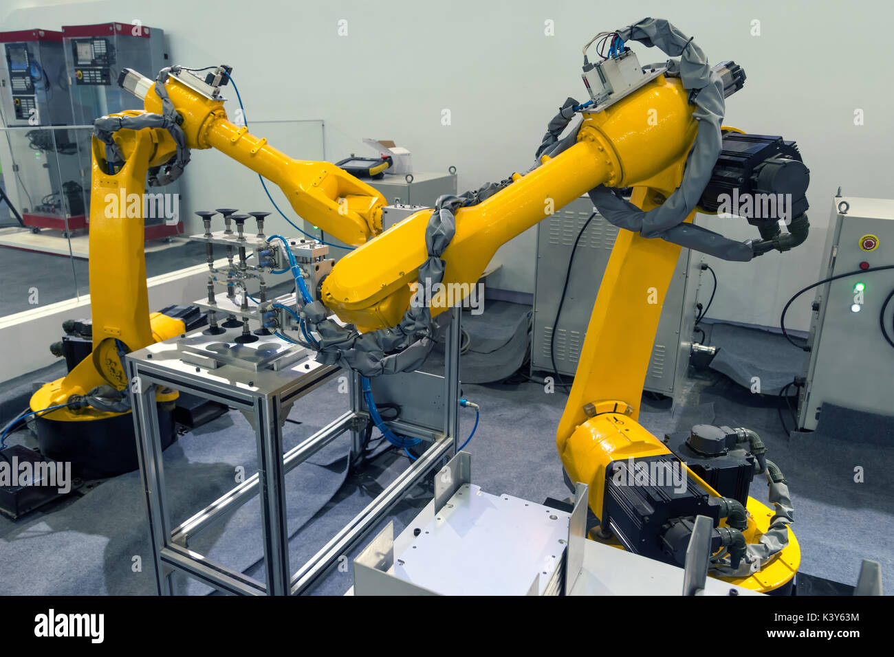 Industriel Machine Manufacturing Production Industrial Machine Factory Robots Arm