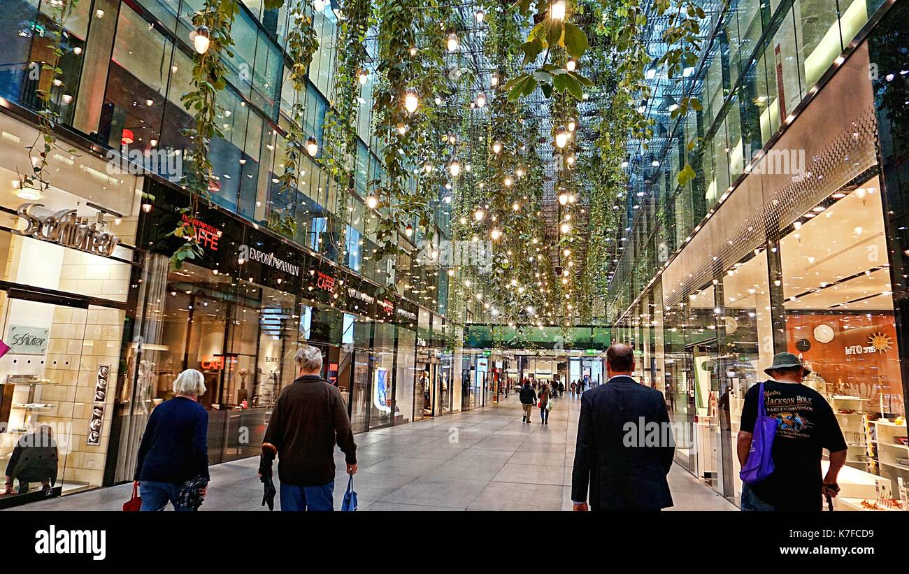 Interior of shopping mall in Munich, Germany Stock Photo - Alamy