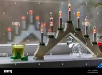 Candles Christmas Window Stock Photos & Candles Christmas ...