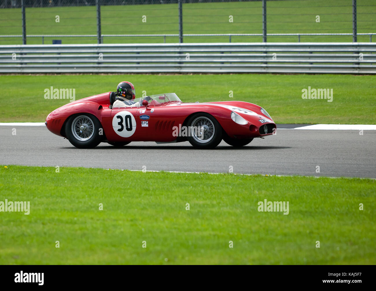 Maserati 350s A 1957 Maserati 300s Competing In The Rac Woodcote Trophy For Pre