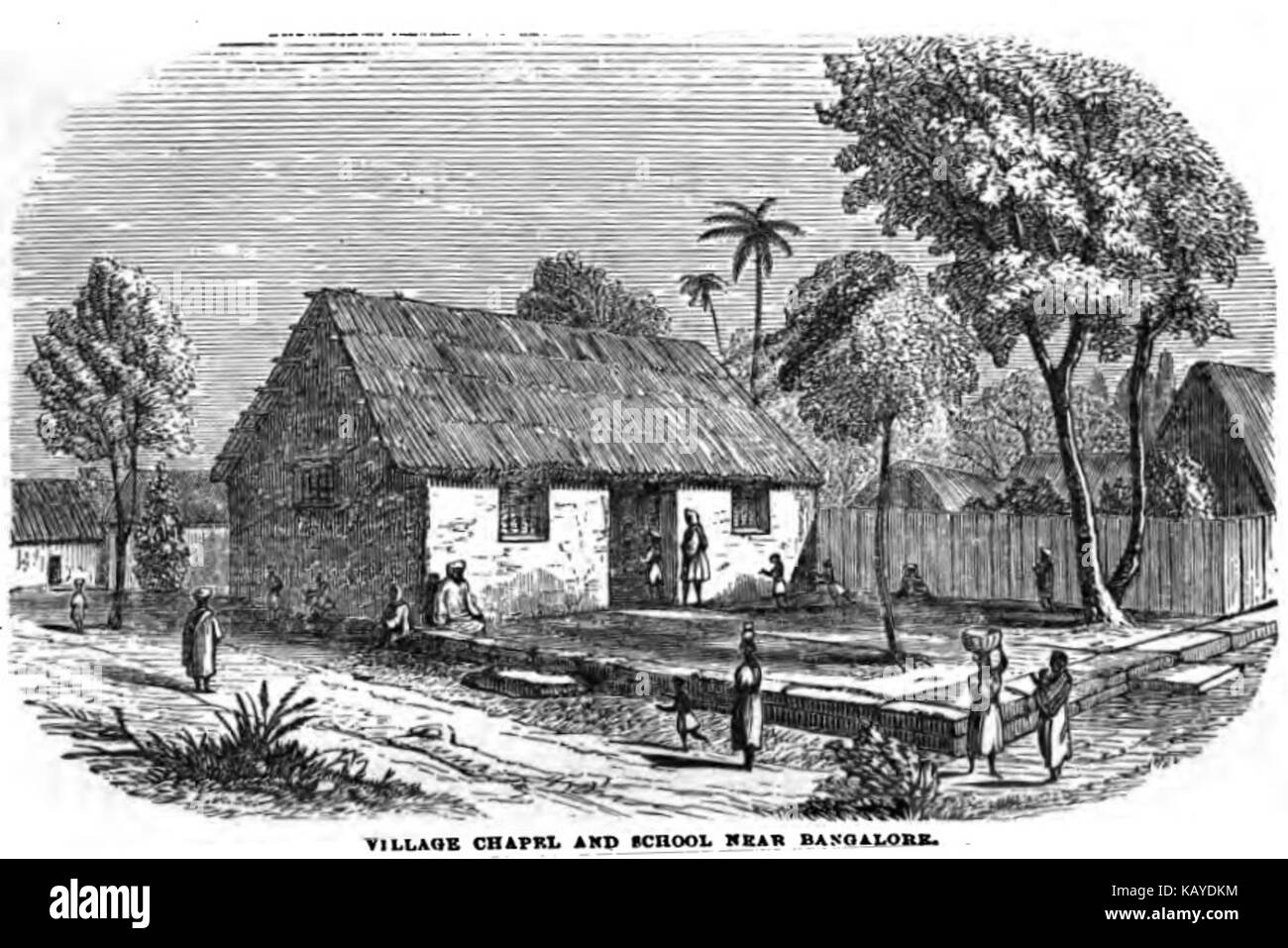 Farmhouse Near Bangalore Village Chapel And School Near Bangalore March 1859 Xvl P 24
