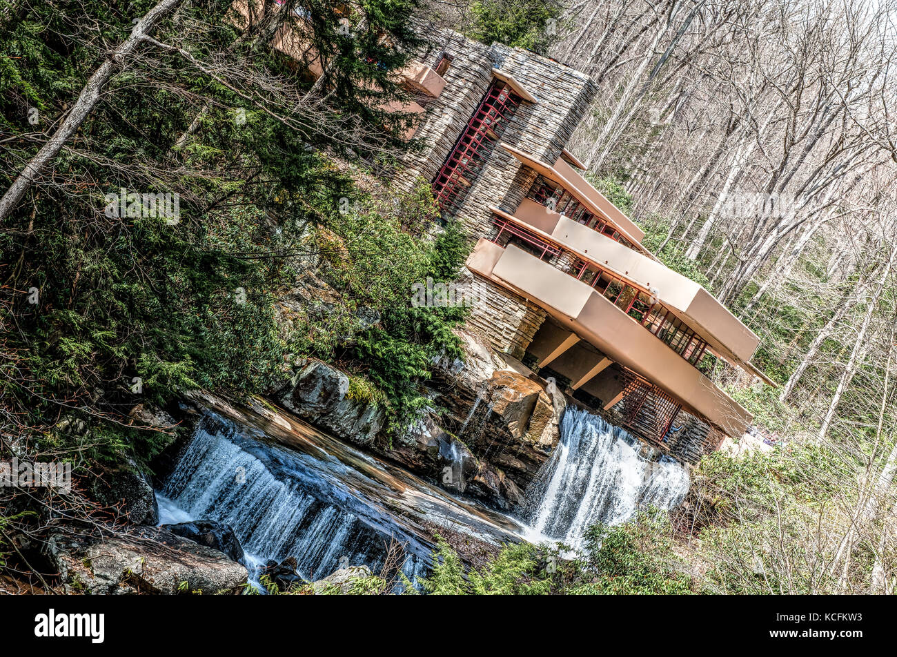 Falling Water House Usa Fallingwater House From The Architect Frank Lloyd Wright Mill Run