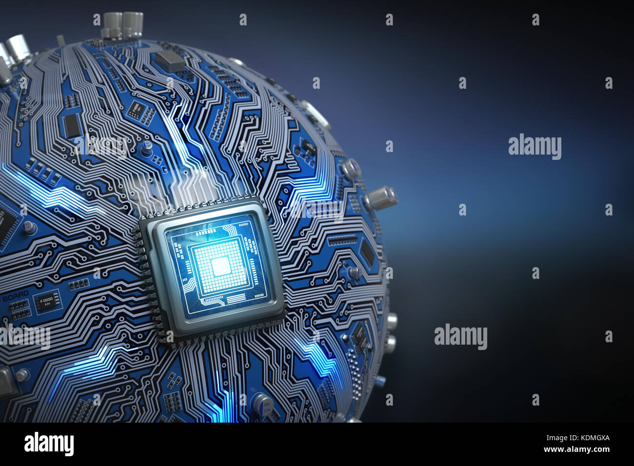 Download Hd 3d Live Wallpaper For Pc Circuit Board System Chip With Core Processor Spherical
