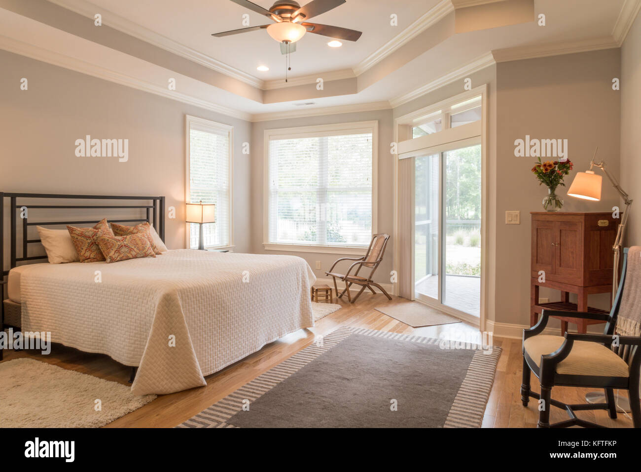 Upscale Ceiling Fan Upscale Residential Bedroom Usa Stock Photo 164652314 Alamy
