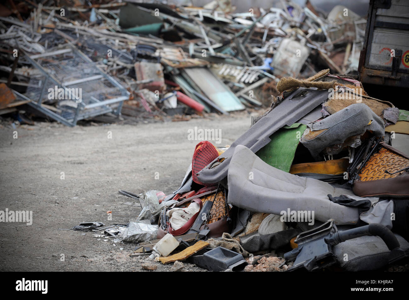Recyclinghof Hamburg Bergedorf Car Parts Garbage Stock Photos And Car Parts Garbage Stock