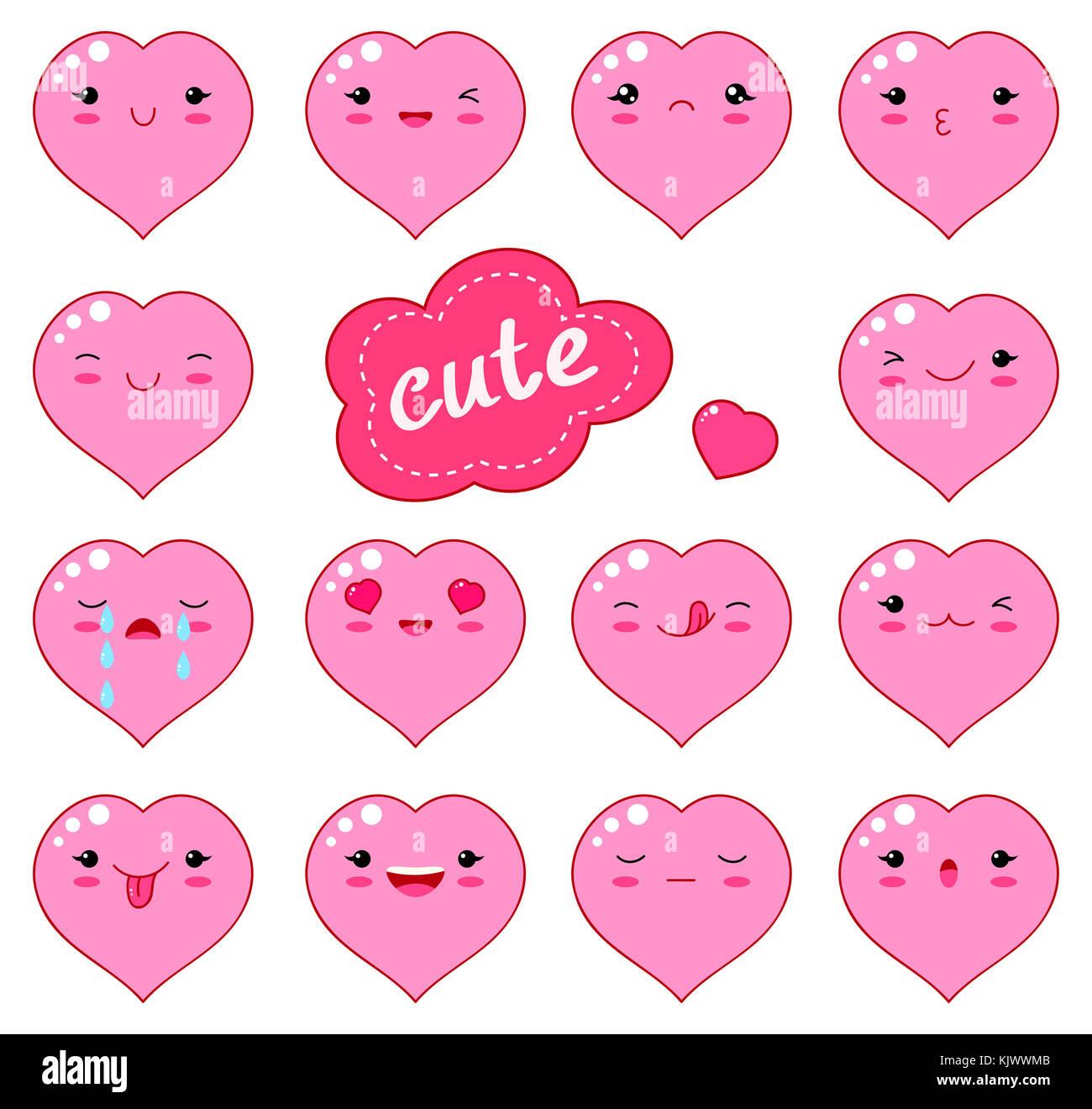 Cute Elephant Design Wallpaper Cute Heart Love Kawaii Character Stock Photos Amp Cute Heart