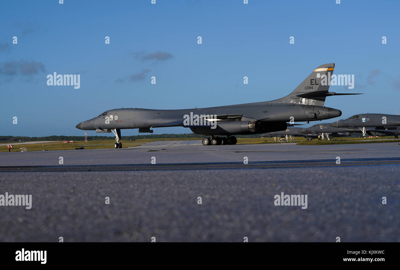 U s air force b 1b lancer assigned to the 37th expeditionary bomb squadron deployed