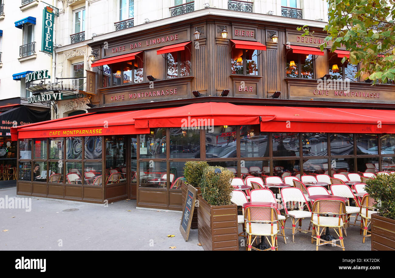 Bar Terrasse Montparnasse Cafe Montparnasse Restaurant Stock Photos Cafe Montparnasse