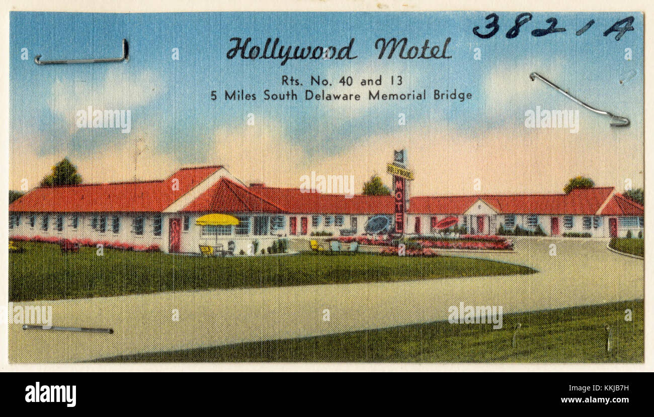 Hollywood Motel Hollywood Motel Rts No 40 And 13 5 Miles South Delaware