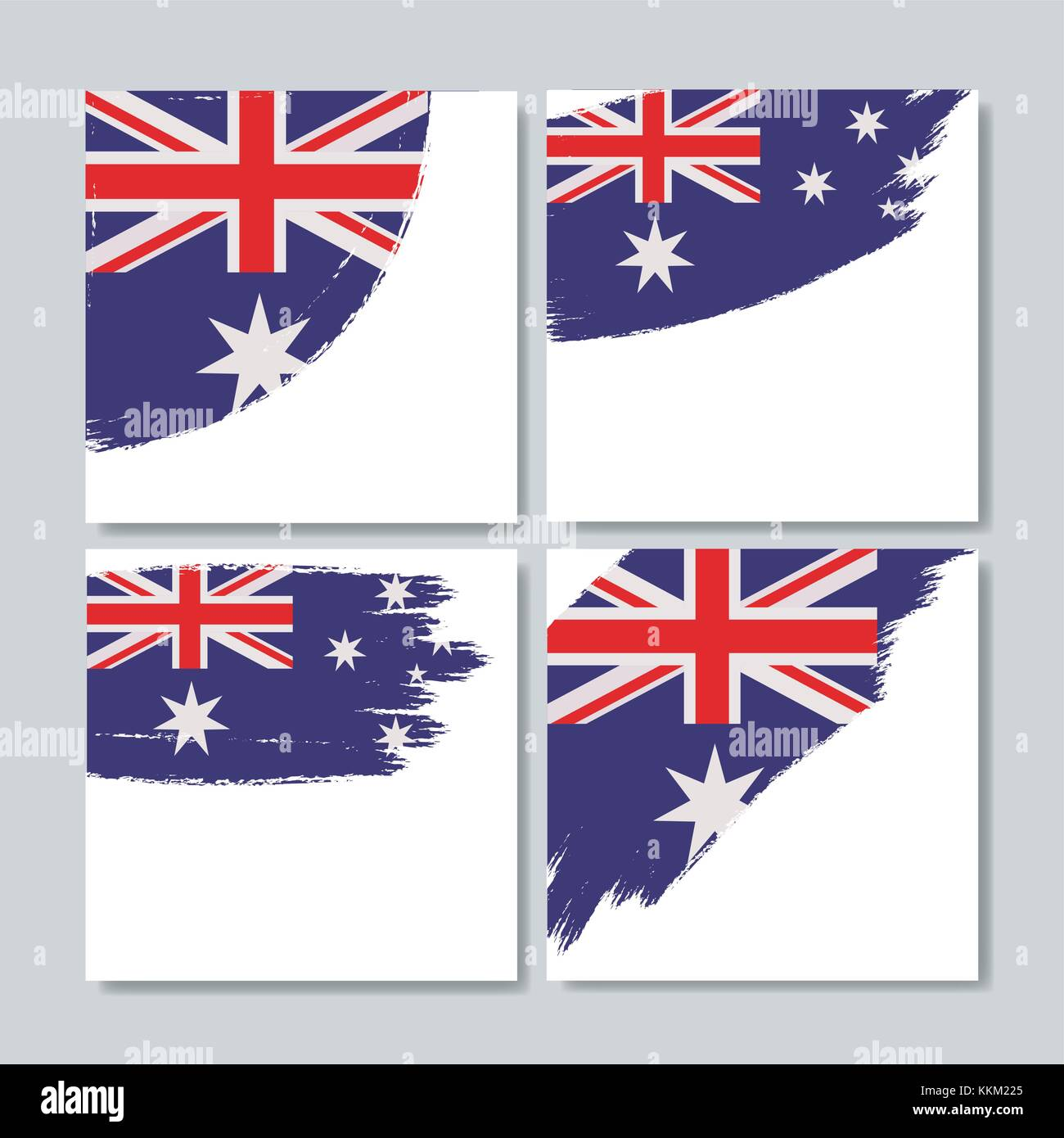 Picture Frames Australia Australian Flag In Brush Strokes Set Of Frames Over White