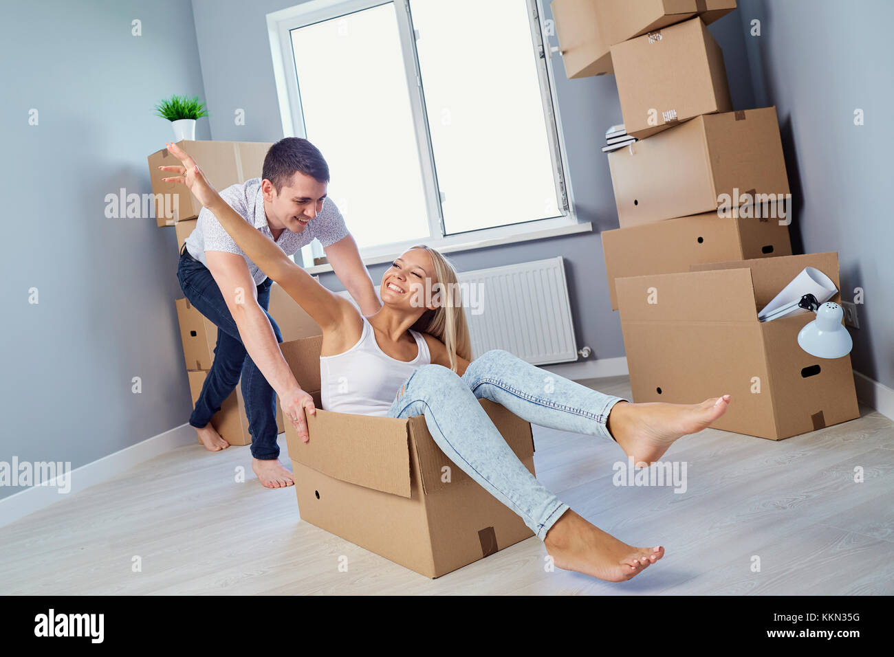 Young Couple Apartment Housewarming Stock Photos And Housewarming Stock Images Alamy