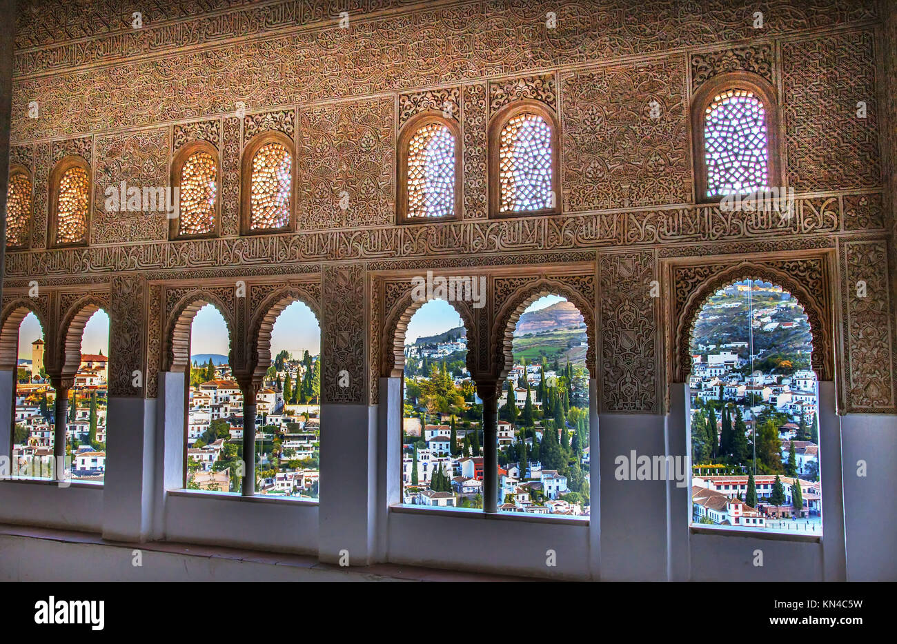 Window Wall Designs Alhambra Moorish Wall Windows Patterns Designs City View Granada