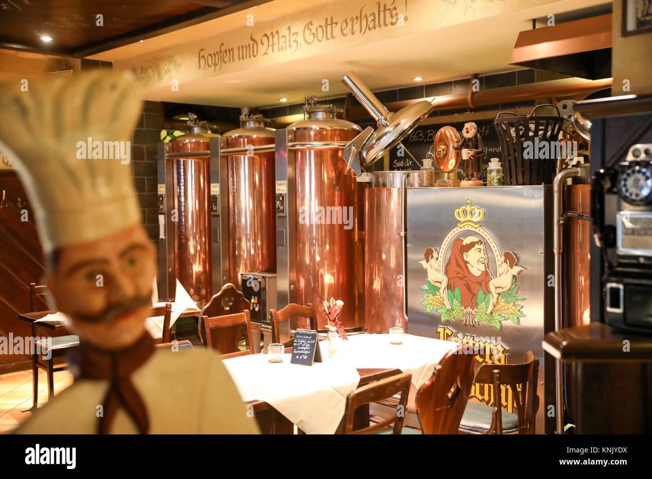 Blauer Engel Restaurant Aue Germany 16th Nov 2017 View Of The Brewery Of The Hotel